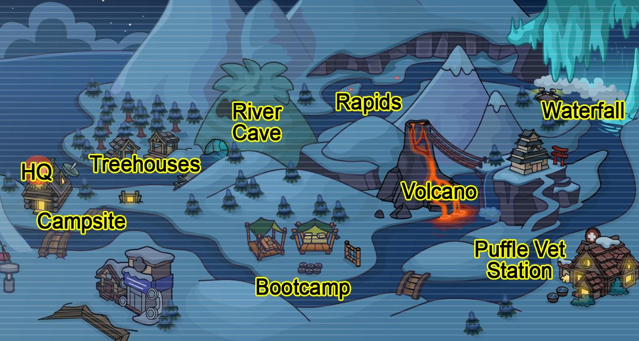 Operation Puffle Map