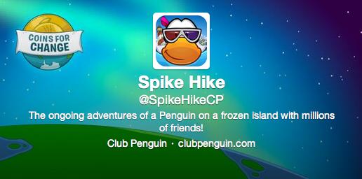 Spike Hike's New Twitter Background