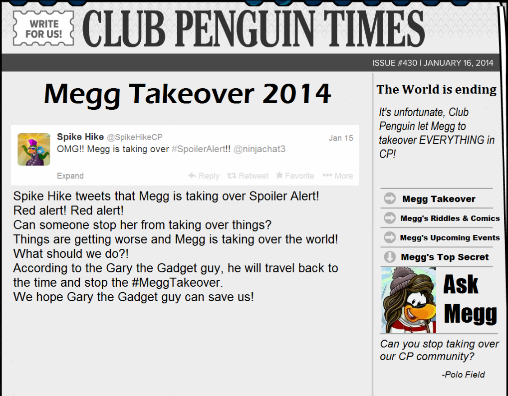 Club Penguin: Megg Takeover For Real News!