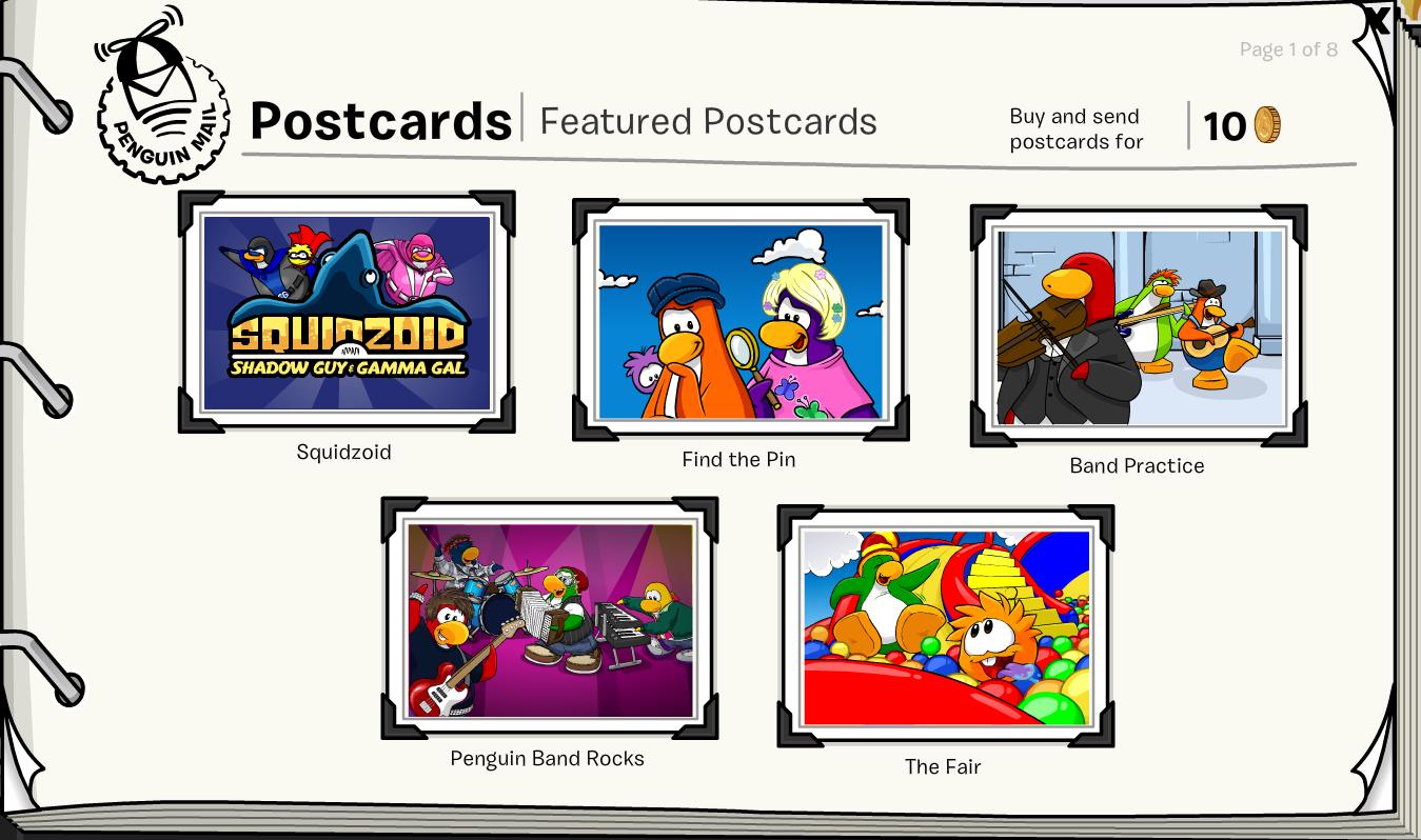 Club Penguin February 2014 Postcard Update