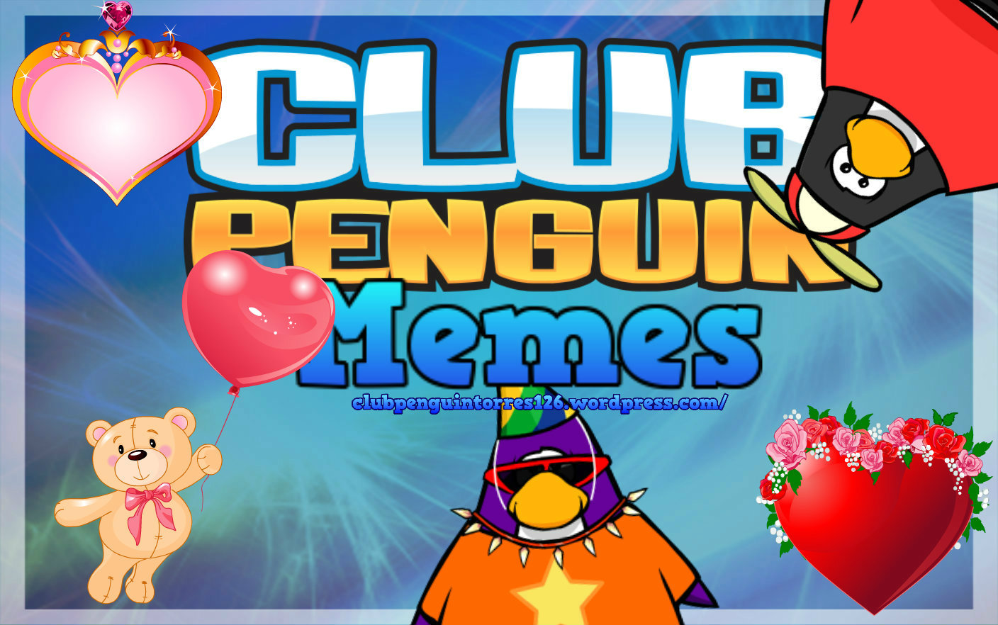 Club Penguin Memes Wish you a Valentine's Day!