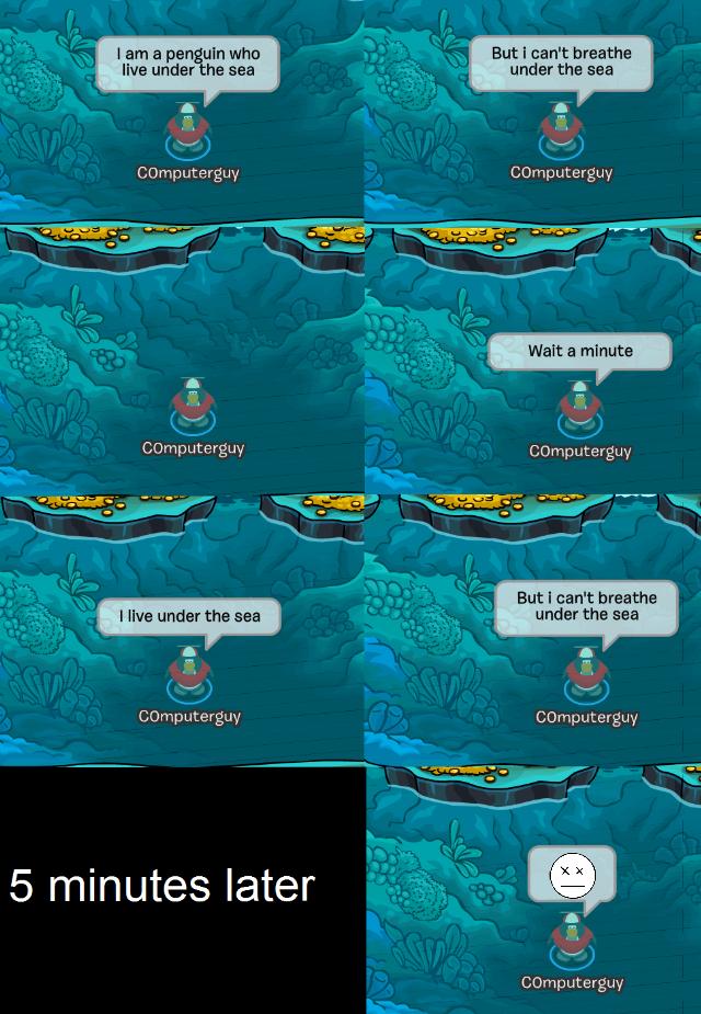 Club Penguin Memes: A Penguin Who Live Under the Sea – Episode 23