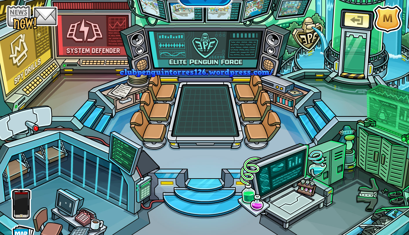 Club Penguin New EPF Command Room
