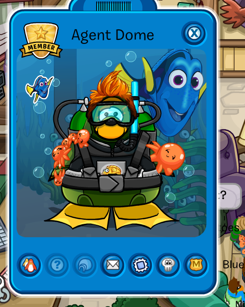 Agent Dome's outfit