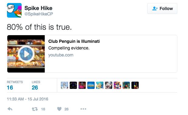 tweet by SPike Hike on theory