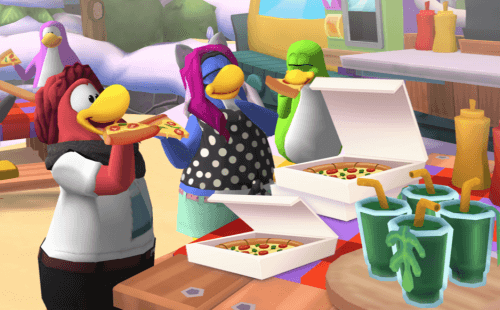 View Club Penguin Pizza Game Theme Gif