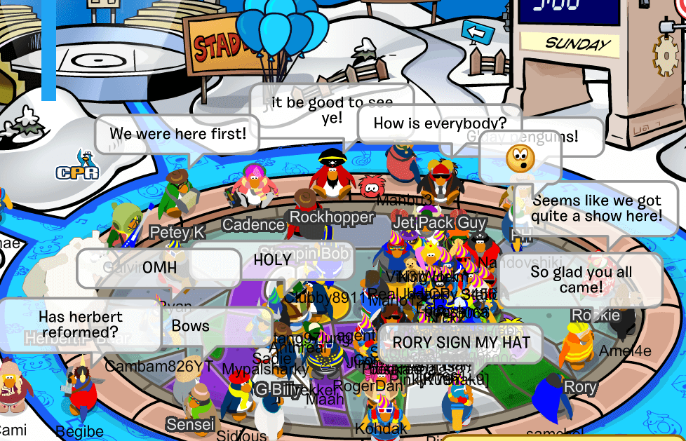Mascot Trackers Club Penguin Mountains