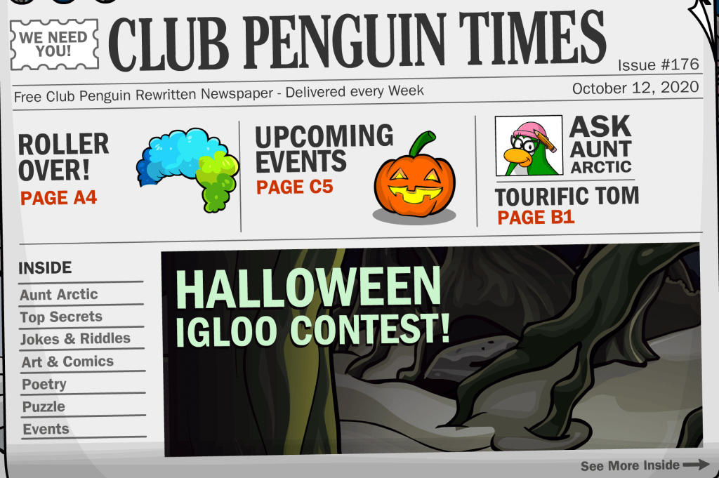 Halloween 2020 Cp CP Rewritten Times: Issue #176 – Halloween… – Club Penguin Mountains